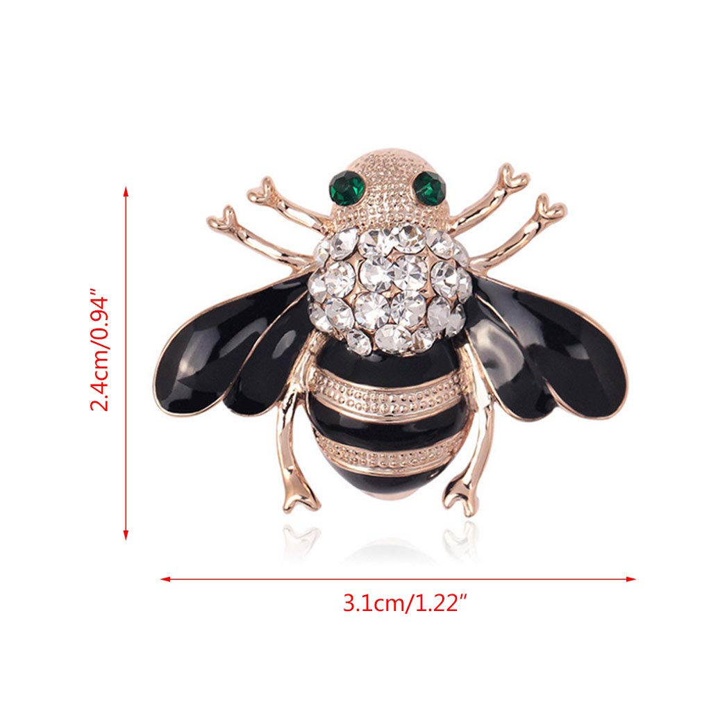 17648f9b42c Roboco Bee Vintage Women Brooch Pin, Insect Enamel Rhinestone Bug Honey Pin,  Exquisite Clothes Dress Scarf Decoration Mother Gift Animal Fashion Bouquet  ...