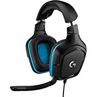 Logitech G432 Auriculares Gaming con Cable, Sonido 7.1 Surround, DTS Headphone:X 2.0, Transductores 50mm, USB y Jack…