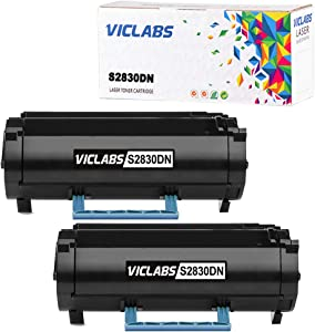 VicLabs Compatible S2830DN Toner(593-BBYP), Replacement for Dell S2830DN Toner Cartridge fits for Dell S2830DN S2830 Printer-8,500 Pages(2-Pack,Black)