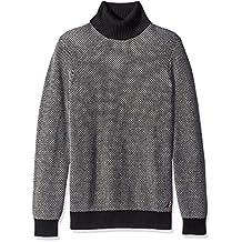 Nautica mens Long Sleeve Turtle Neck Jacquard Sweater