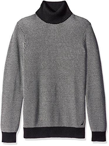 Nautica Mens Jacquard Turtleneck Sweater
