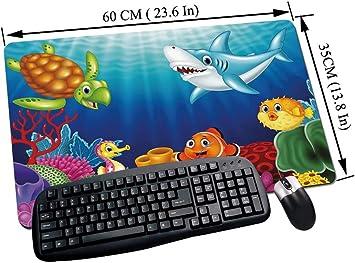 Alfombrilla Raton Gaming,Acuario, peces tropicales de dibujos ...