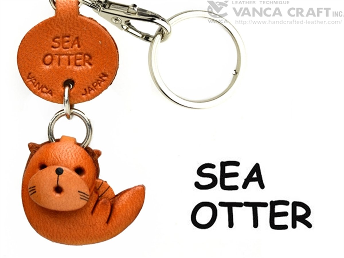 Sea Otterレザー魚/SeaAnimal Sea Small Keychains B008DPW0EI VANCA craft-collectibleキーリング日本製 VANCA B008DPW0EI, 日昭電気:ed4bd171 --- awardsame.club
