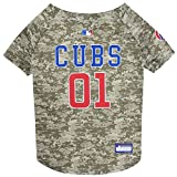 Pets First MLB Camo Jersey for Dogs - Chicago Cubs Hunting Jersey, X-Large. - MLB Team Logo Camouflage PET Jersey