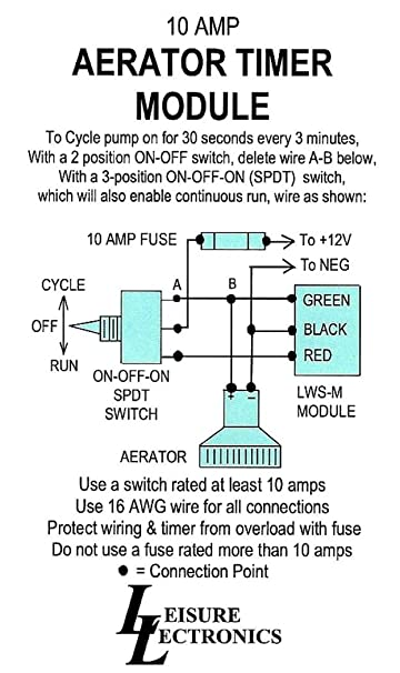 619rLygq3HL._SY606_ amazon com leisure lectronics automatic livewell timer aerator aerator pump wiring diagram at soozxer.org