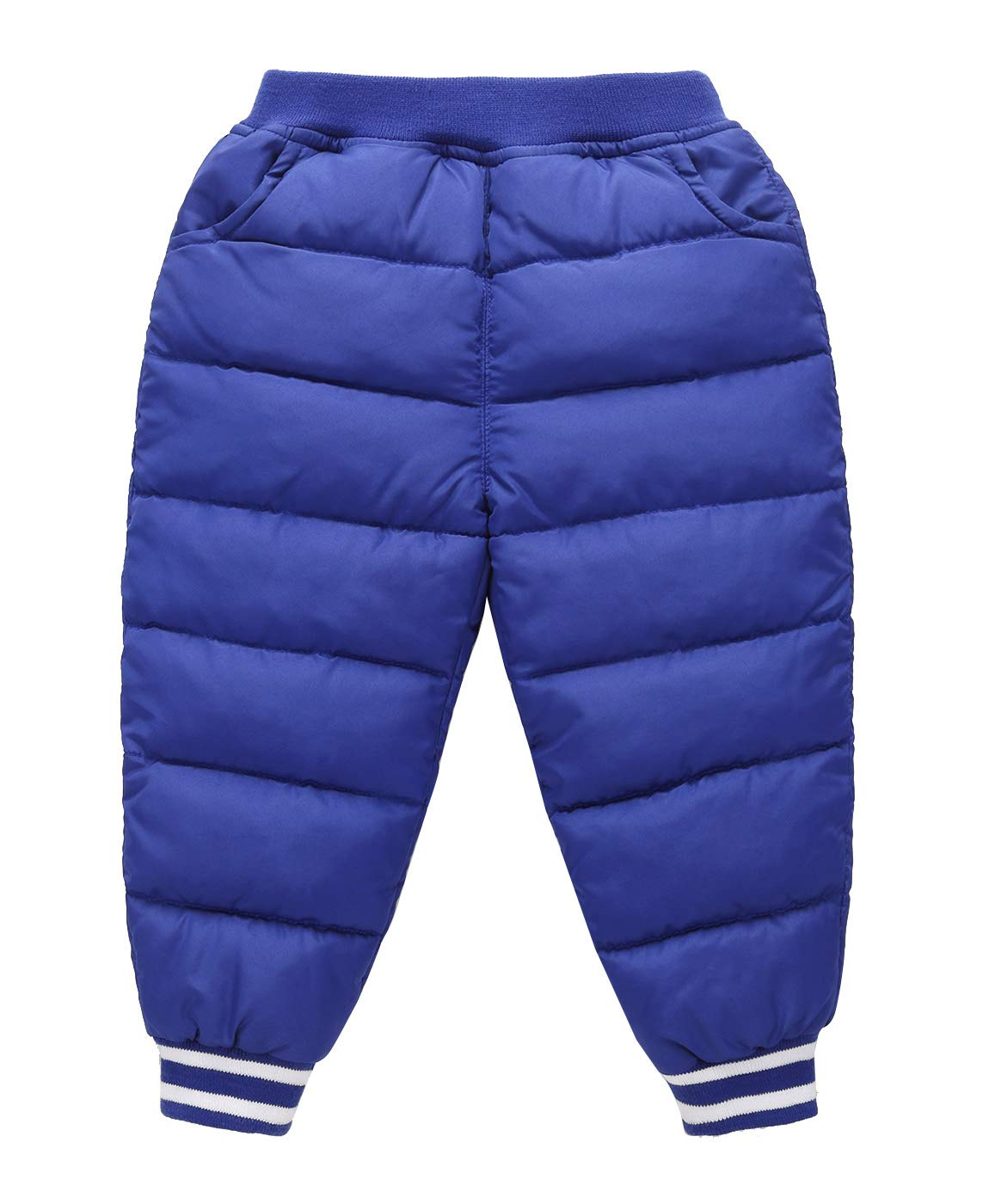 Boys Full Length Pants Ankle Length Lightweight Soft Down Pants Casual Trousers Black for 4-5T