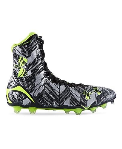 2edae2596bf5 Under Armour Men s UA LAX Highlight MC Black High-Vis Yellow Athletic Shoe