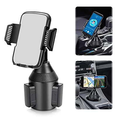 Car Phone Mount,Universal Smart Phone Adjustable Automobile Cup Holder Phones Mount for iPhone 11 pro/Xs/Max/X/XR/8/7/6 Plus Samsung Galaxy S10/S9/S8 Note 9 Nexus Sony、HTC、Huawei、LG and All Smartphone [5Bkhe1007923]