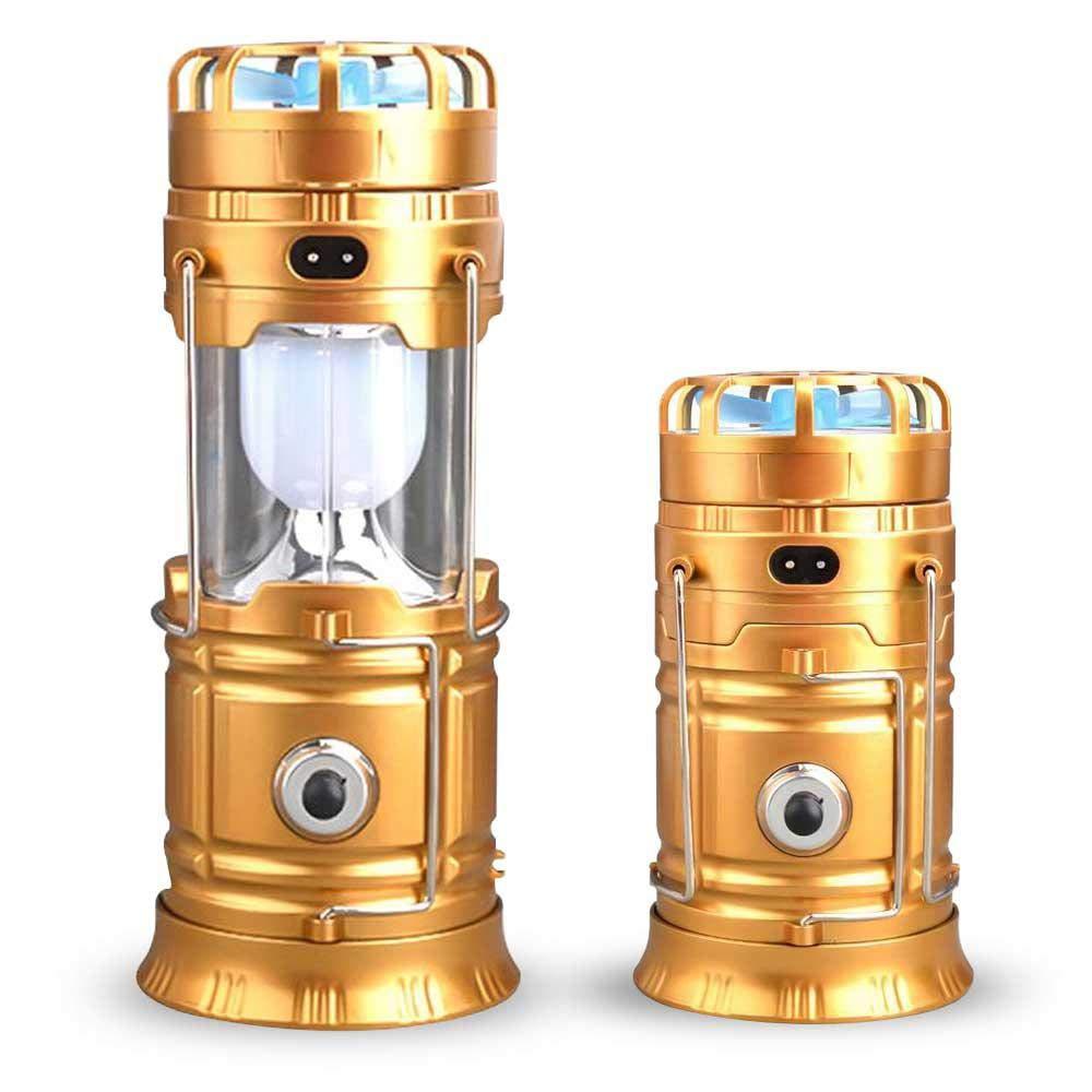 LayOPO 4 en 1 Lanterne de Camping Solaire Multifonction Lanterne Portable Mini Lampe de Poche pour Ventilateur USB Source dalimentation Portable
