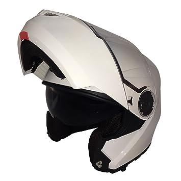 Viper RS-V335- Casco de moto, mujer hombre, blanco