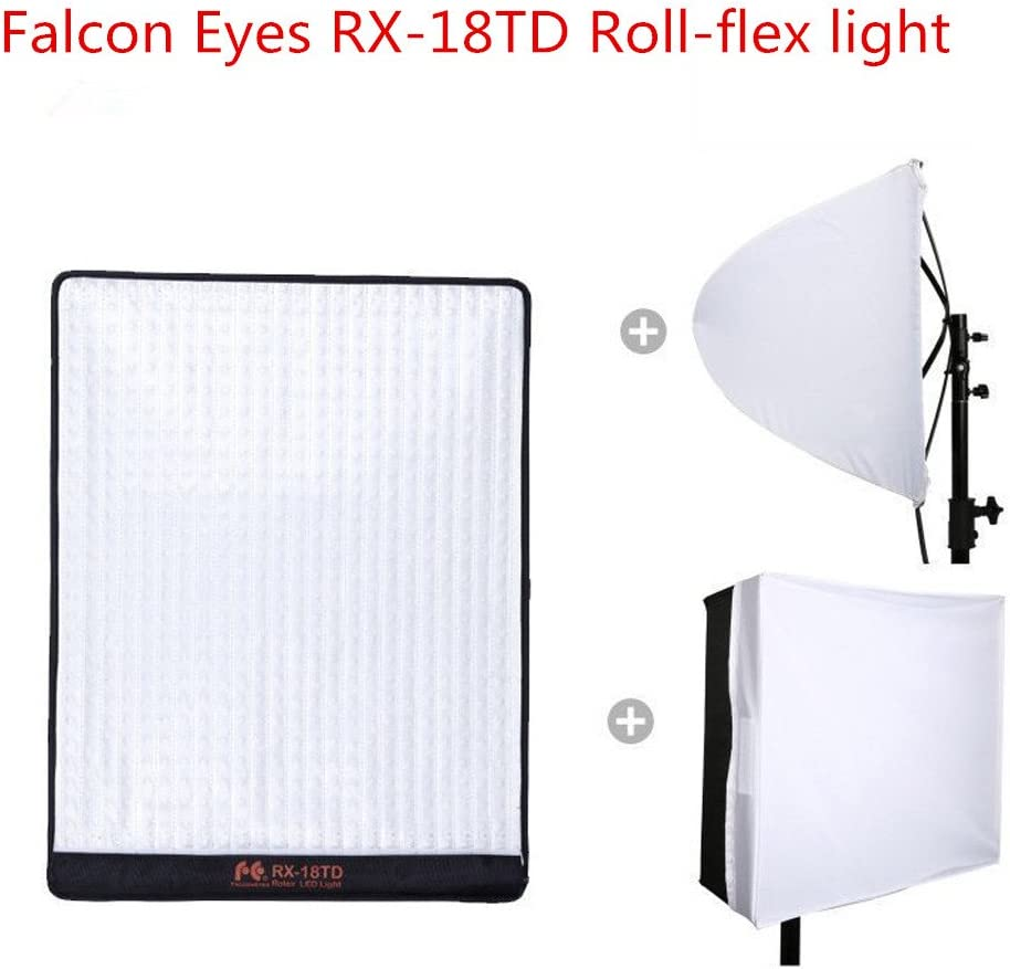 Falcon Eyes RX-18TD Roll-Flex Light 100w Bi-Color Flexible LED Photo Light with Softbox Diffuser Portable LED Photo Light New Version