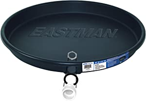 "Eastman 60077 Water Heater Pan, 30"" ID x 32"" OD, Plastic, Black"