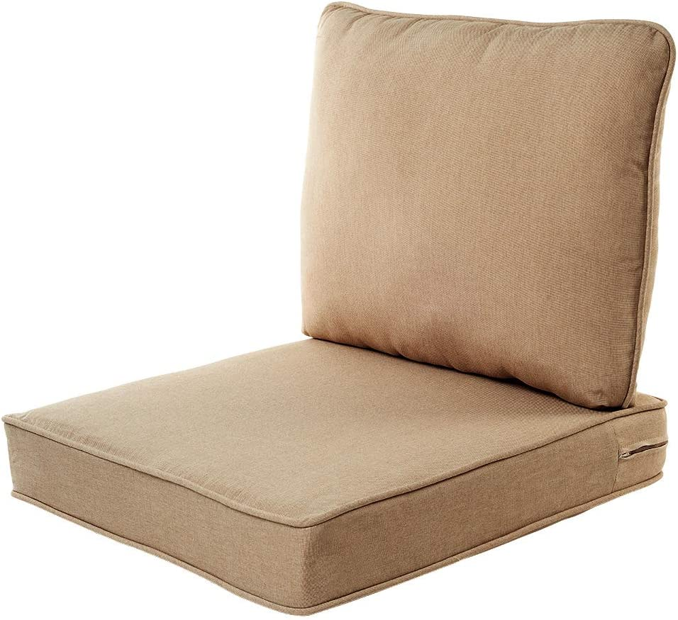 Quality Outdoor Living 29-BG02SB Chair Cushion, 23 Width by 26 Depth, Beige