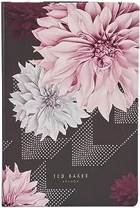 Ted Baker A5 Notebook - Black Clove Design