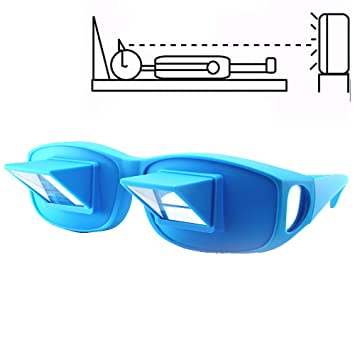 f8ebf988c8ef Anrri Bed Prism Glasses Lazy Spectacles Horizontal Glasses Lie Down for  Reading/Watching TV,