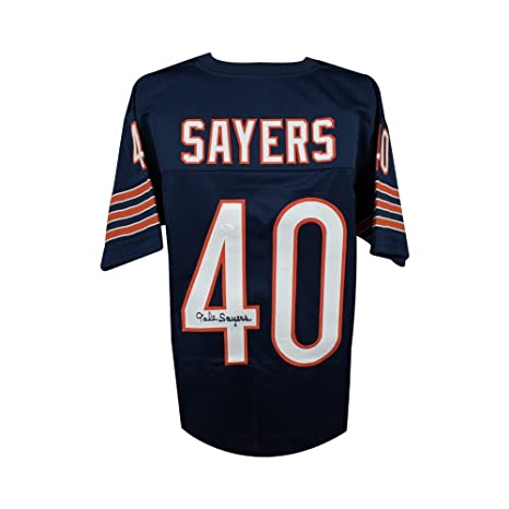9cbbf5e20 Image Unavailable. Image not available for. Color  Gale Sayers Autographed Chicago  Bears Custom Navy Football Jersey ...
