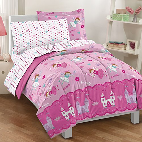 Dream Factory Magical Princess 4 Piece Bedding Set, Toddler, (Fairy Crib)