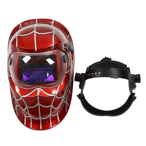 Mascara de soldador - TOOGOO(R) Mascara de soldador profesional Casco de soldadura de oscurecimiento automatico solar, Telarana roja: Amazon.es: Bricolaje y ...