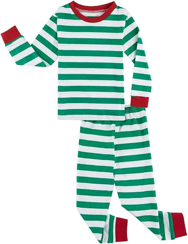 MOMBEBE COSLAND Conjunto de Pijamas Beb/é Ni/ños Navidad Manga Larga 100/% Algod/ón