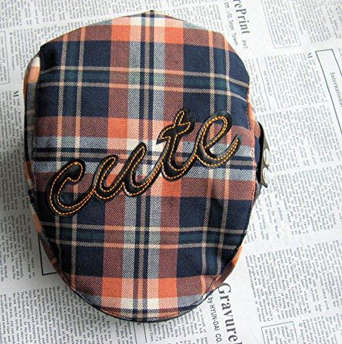 病気だと思うはいはず男子の帽子&キャップベビー帽子、子供用の格子は、 Berets 、かわいいサンキャップ、男の子と女の子、サン
