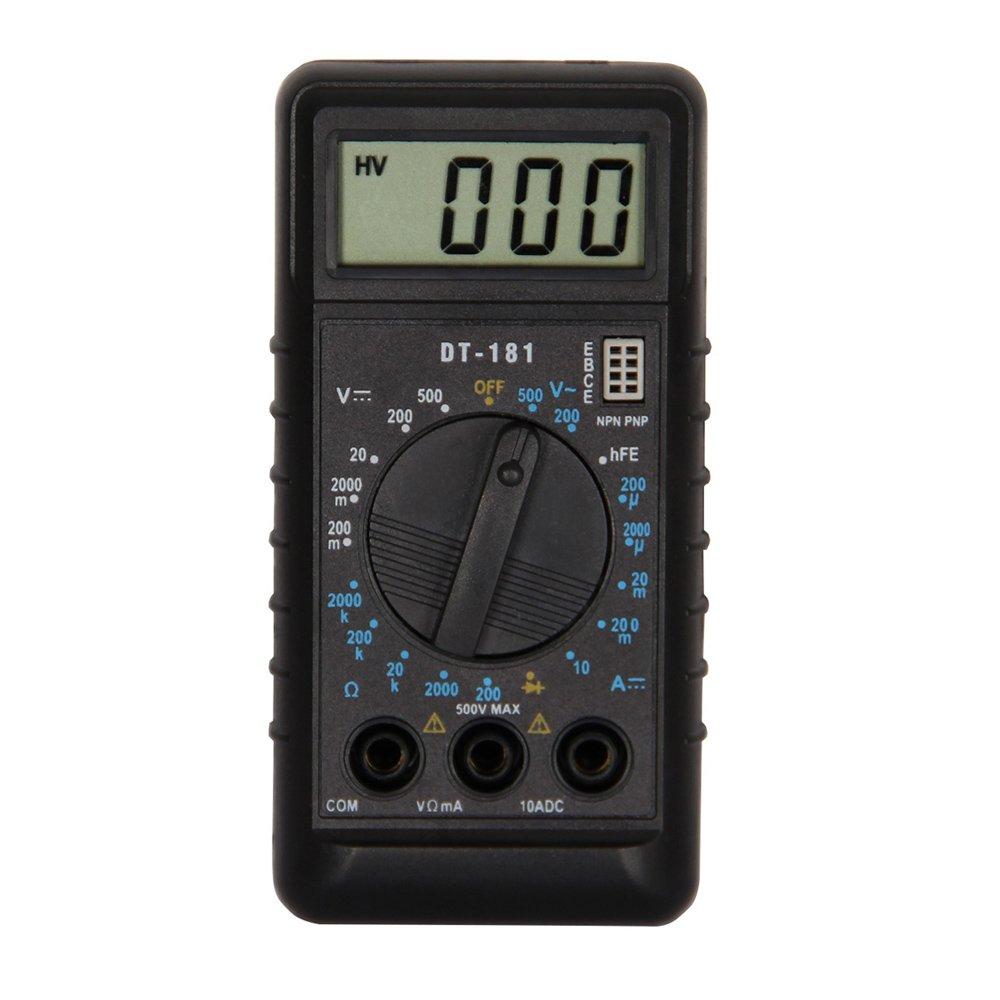 OLSUS DT181 LCD Handheld Digital Multimeter for Home and Car - Black + White