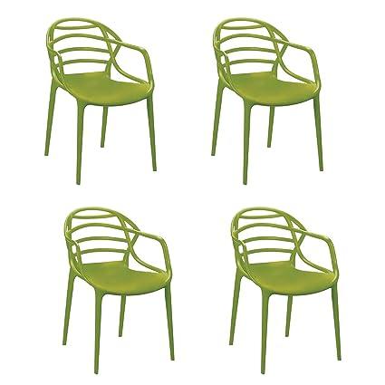 Cello Image Series Atria Set of 4 Chairs (Green)