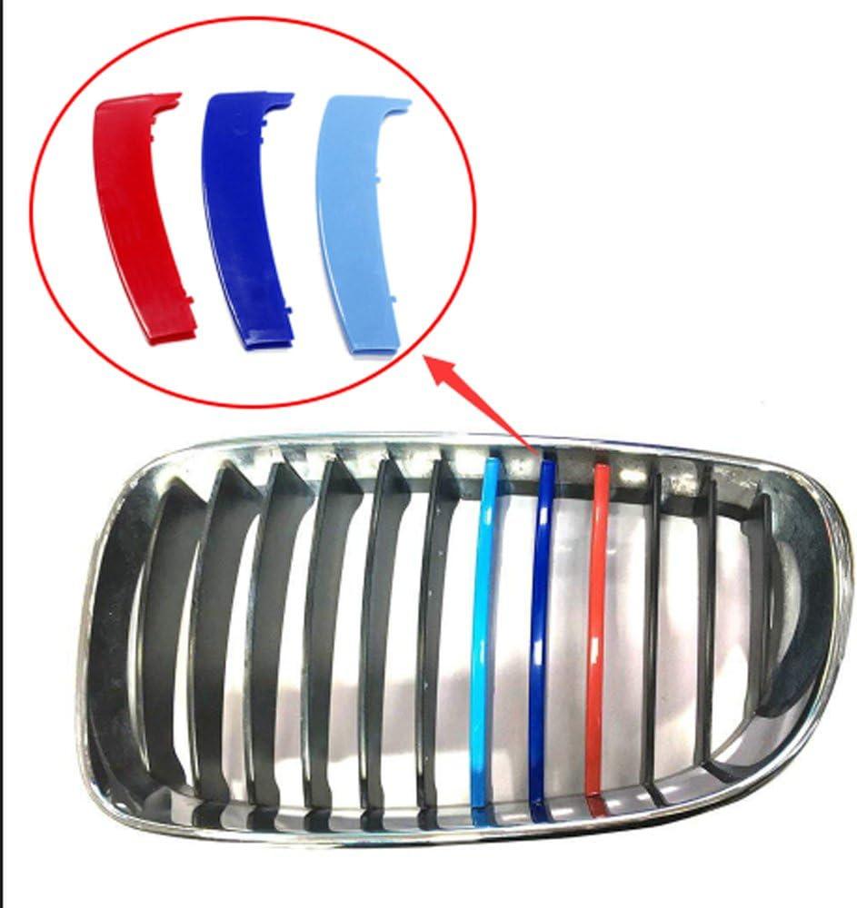 Muchkey 3D M Style Rene griglia radiatore,3 colori,Per 1 Serie E87 inserto griglie visiera 12 strisce Angolo acuto