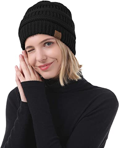Thin Stretchy /& Soft Winter Cap Childhood Cancer Strong Unisex Solid Color Beanie Hat