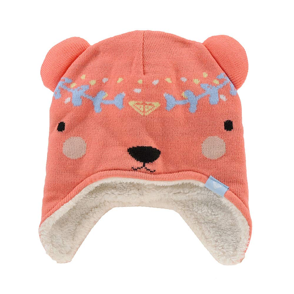Roxy Toddler Girls' Bear Snow Beanie, Shell Pink, 1SZ