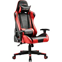 Gtracing Ergonomic Backrest and Seat Height Adjustment Gaming Computer Chair with Recliner (Black/Red)
