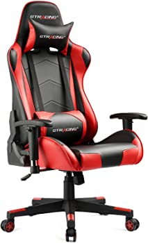 Gtracing Backrest & Seat Height Adjustment Gaming Computer Chair