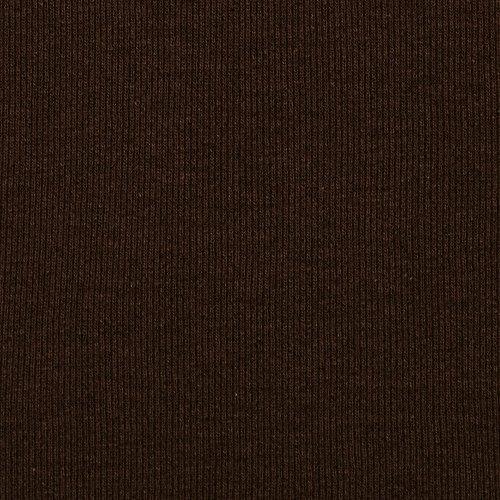 Fabric Merchants T-Knit Ribbing Chocolate - Brown Fabric Knit