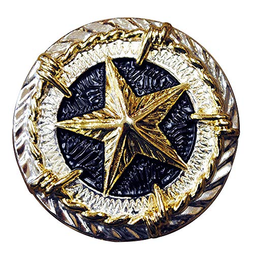 (1 Piece Texas Star Gold Concho Saddle Headstall TACK Bling Cowgirl)