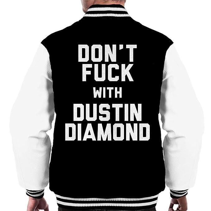 Coto7 Dont Fuck with Dustin Diamond Mens Varsity Jacket: Amazon.es: Ropa y accesorios
