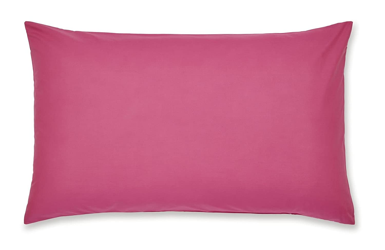 Catherine Lansfield Easy Iron Percale Housewife Pillowcase Pair Black BDB1 8277 WPC24-BLACK