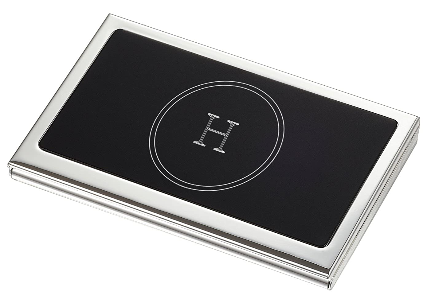 Visol Evette Business Card Case with Engaved Initial H