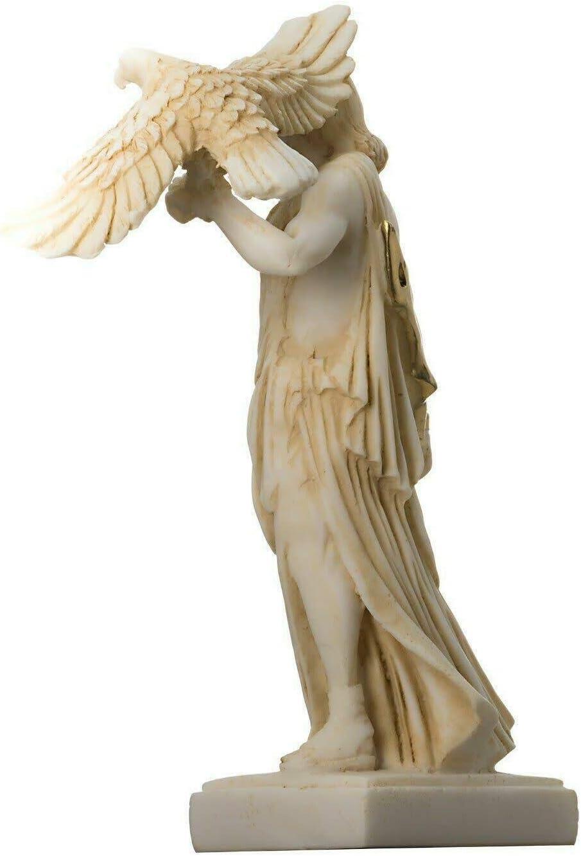 Zeus Greco Dio Giove Tuono Statua Figura Oro Alabastro 6.3