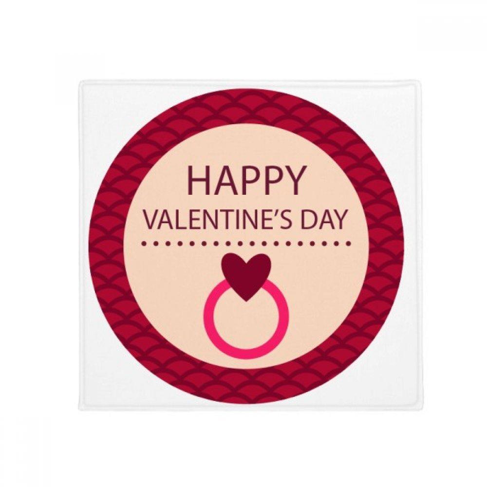 DIYthinker Pink Round Happy Valentine's Day Anti-Slip Floor Pet Mat Square Home Kitchen Door 80Cm Gift