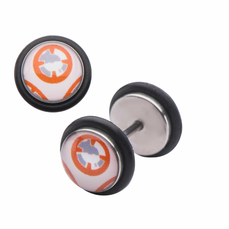 Star Wars VII: The Force Awakens Kylon BB-8 Stainless Steel Fake Plug Earrings Salesone 839546008788