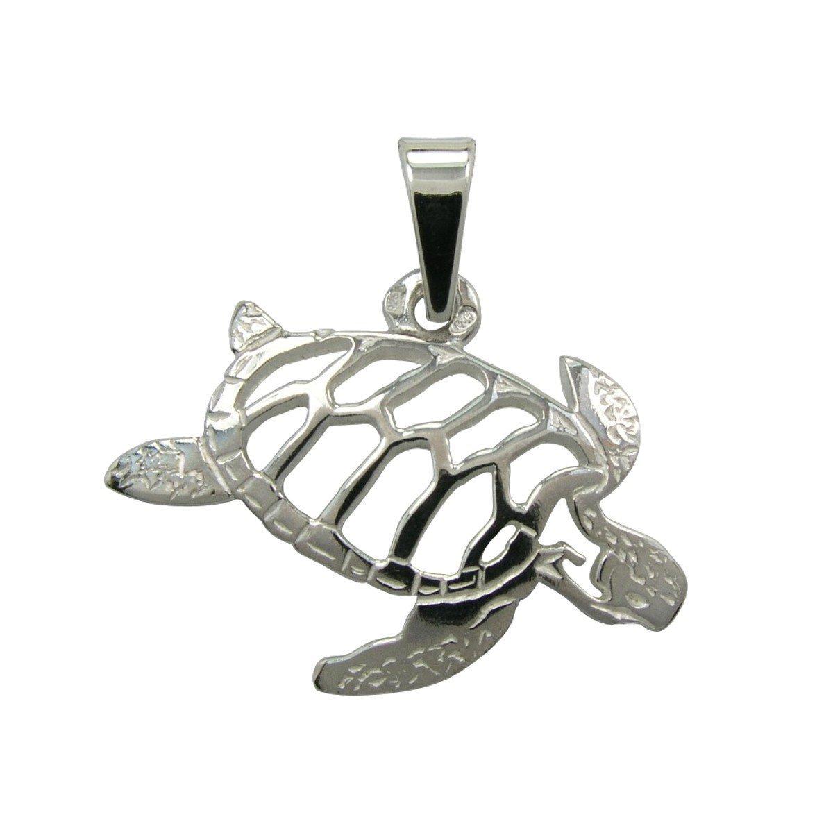 H&H Jewellery Tortue pendentif d'argent rhodi; Bigouterie d'argent - Pendentif (titre 925/1000) 7001142