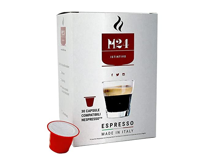 480 Cápsulas de Café Compatibles con Máquinas Nespresso - Caffè H24 - espresso napolitano