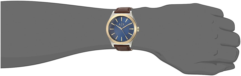 5b7a9e243 Armani Exchange AX2334 Reloj, color Marrón: Armani Exchange: Amazon.com.mx:  Relojes