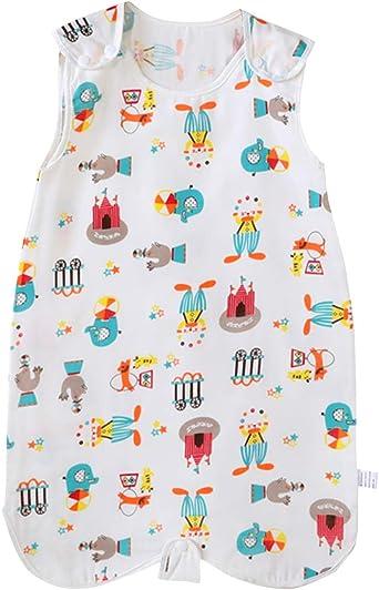 FEOYA - Saco de Dormir de Verano para Bebés Recien Nacido Pijama Ropa de Dormir de Algodón Suave sin Manga 1.0 TOG - Parque - 0-6 Meses: Amazon.es: Ropa y accesorios