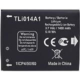 Batterie de rechange Li-ion pour Alcatel TLi014A1 ONE TOUCH 4010/D 4012 4030 OT-5020 Noir 1400mAh
