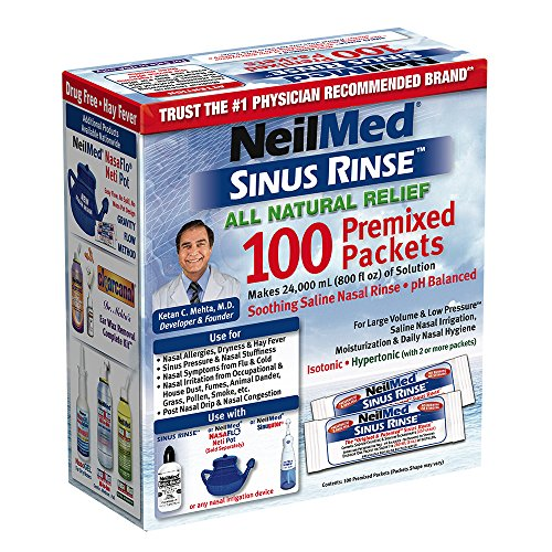Natural Rinse (NeilMed Sinus Rinse All Natural Relief Premixed Refill Packets 100 Each)