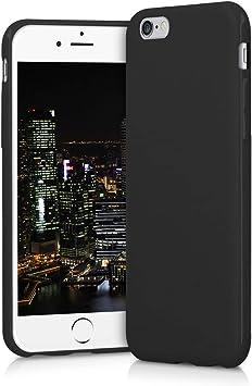 kwmobile Coque pour Apple iPhone 6 / 6S - Coque Housse Protectrice pour Téléphone en Silicone Noir Mat