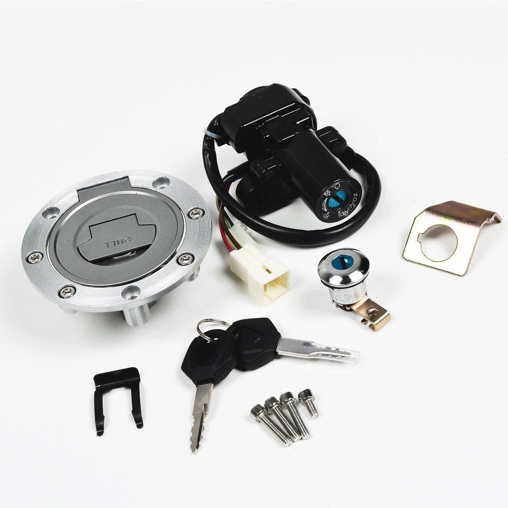 Ignition Switch Fuel Tank Cap Seat Lock 2 Key For Wiring Diagram 2001 Yamaha R6 Parts Yzf R1 R6s Fz6 Fjr1300 Automotive