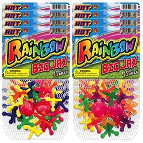 Jax Set - JaRu Rainbow Double Big Jax (Party Favor Bundle Pack of 8)