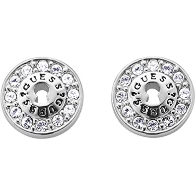 Guess Women's Stud Earrings Stainless Steel with White UBE71206 4WSsiW3Ocu