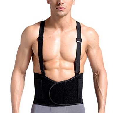 3f5c4683700 Zhhlaixing Waist Trimmer Trainer Belt Tummy Belly Bands Bodybuilding  Breathable Anti-Slip Adjustable with Suspenders  Amazon.co.uk  Clothing